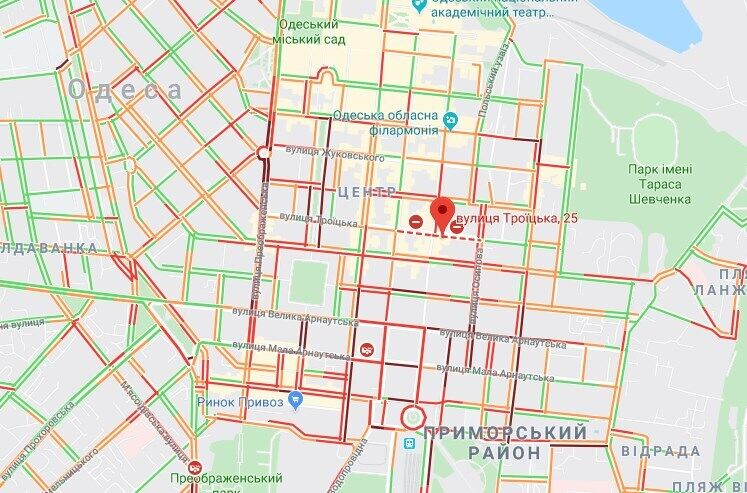Пожар на улице Троицкой, 25 в Одессе