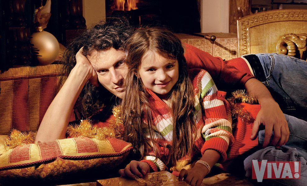 Кузьма Скрябин с дочкой