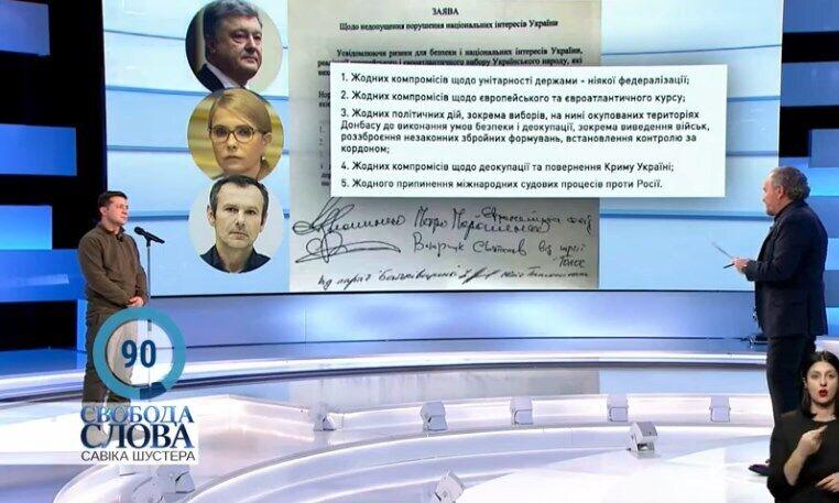 Владимир Зеленский и Савик Шустер
