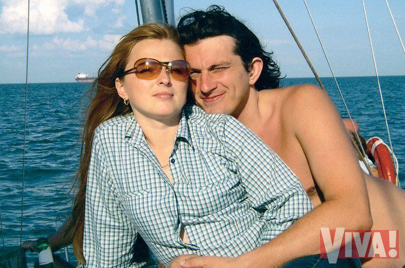 Кузьма Скрябин с женой