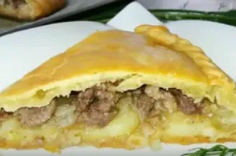 Рецепт вкуснейшего мясного пирога из духовки