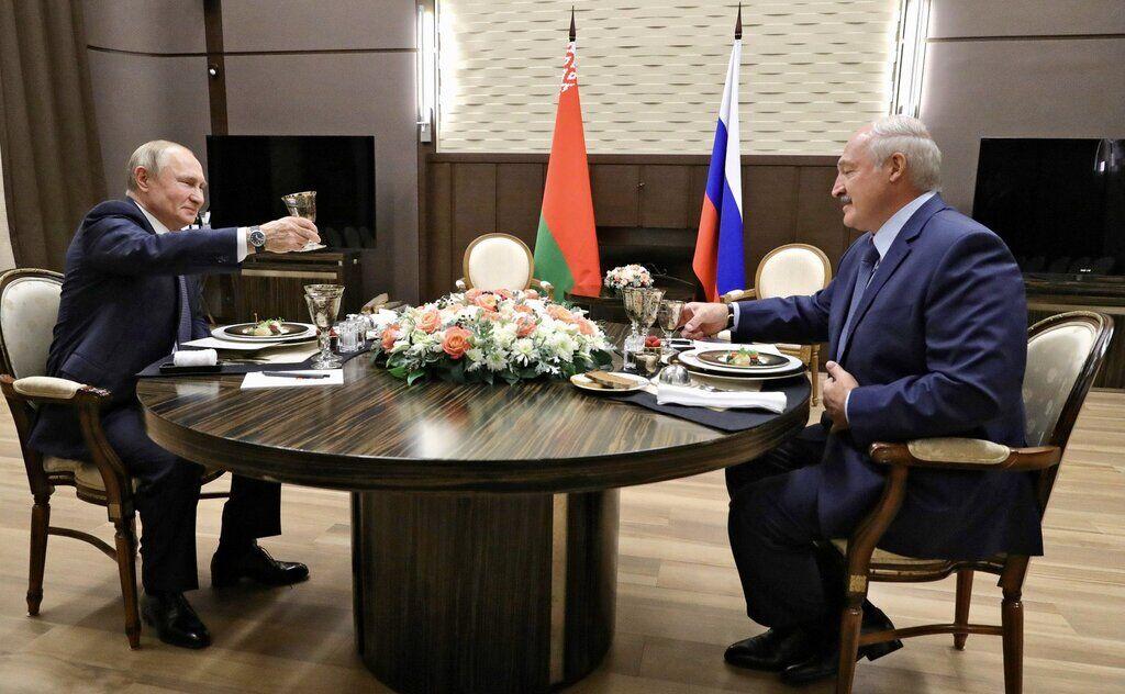 Путін і Лукашенко в Сочі: фото обіду