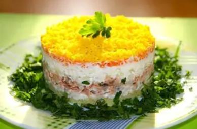 """Самый лучший рецепт салата """"Мимоза"""" с фото"""