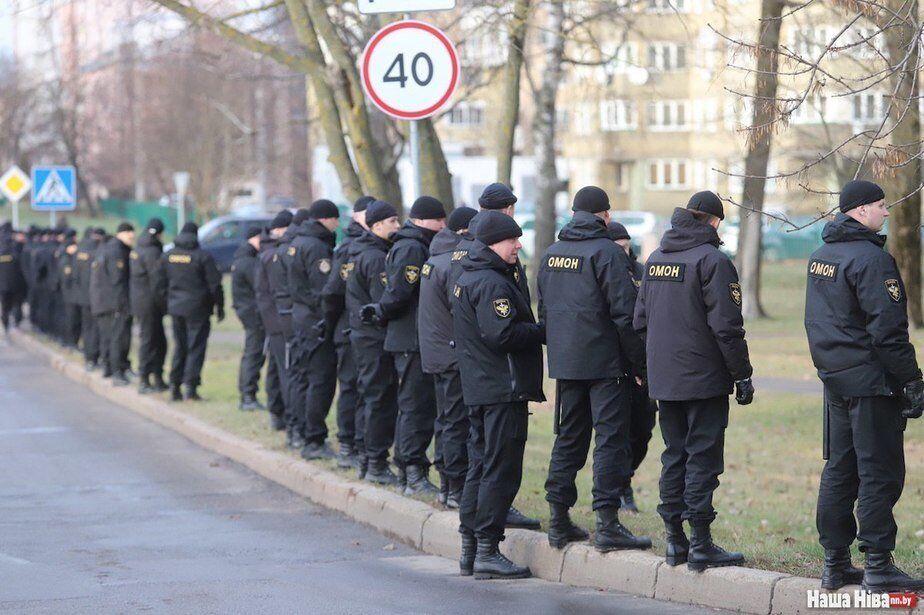 Протести в Білорусі - міліція