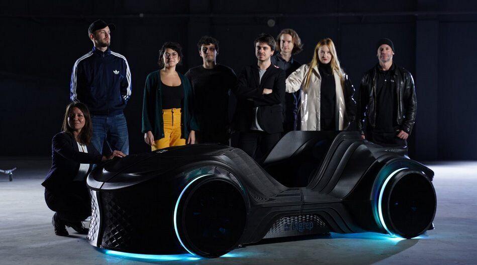 В Германии уникальный электромобиль напечатали на 3D-принтере: фото и видео