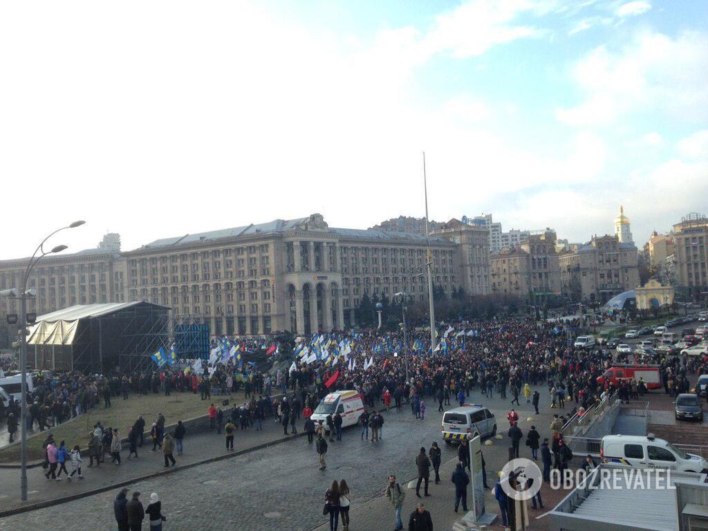 В Киеве проходит акция против капитуляции Украины