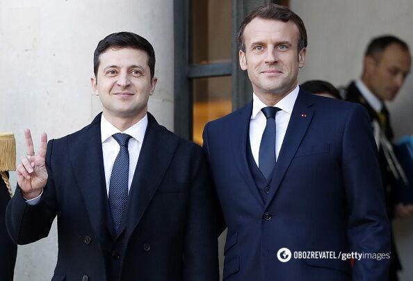 Зеленский начал встречу с Макроном