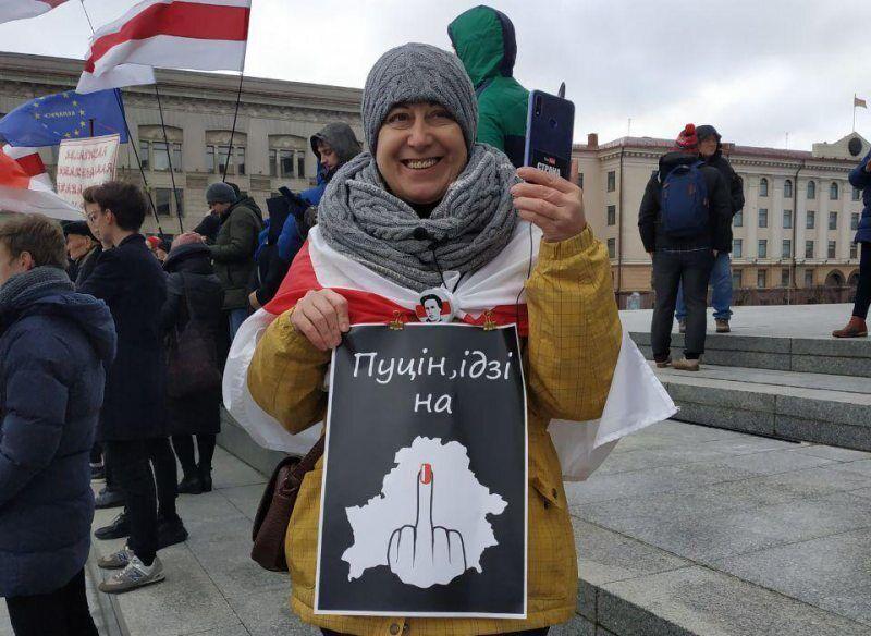 Протесты в Беларуси против объединения с Россией