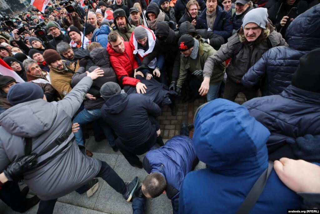 Мітинги в Білорусі проти інтеграції з РФ