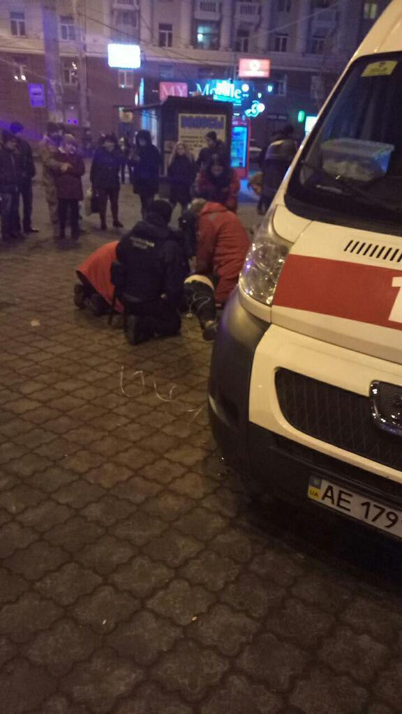 В Днепре посреди улицы на глазах у толпы умер мужчина