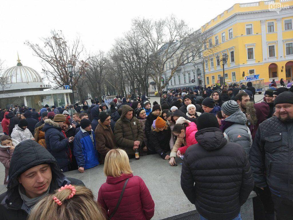 Вышли за 1000 грн: в Одессе ''развели'' участников проплаченного митинга