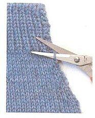 Вязание. Как укоротить уже готовую вещь без перевязки.