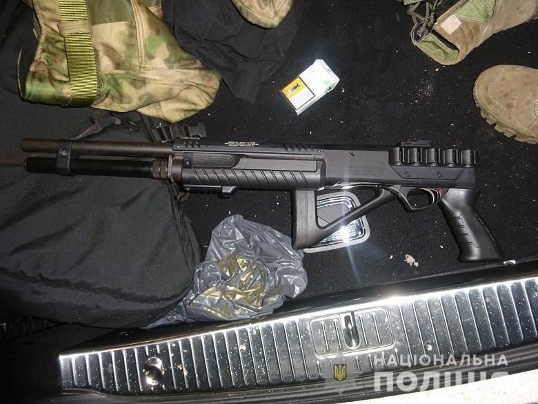 Зброя, яку виявили поліцейські
