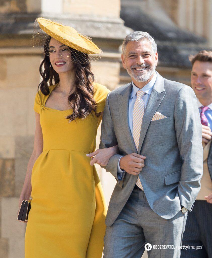 Джордж и Амаль Клуни на свадьбе пары