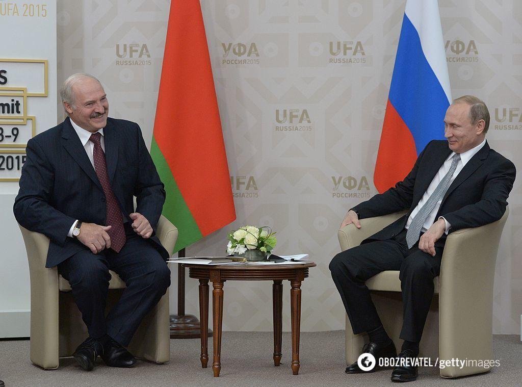 Встреча Александра Лукашенко и Владимира Путина