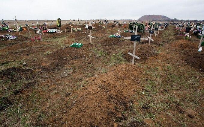 Кладбище оккупантов под Донецком