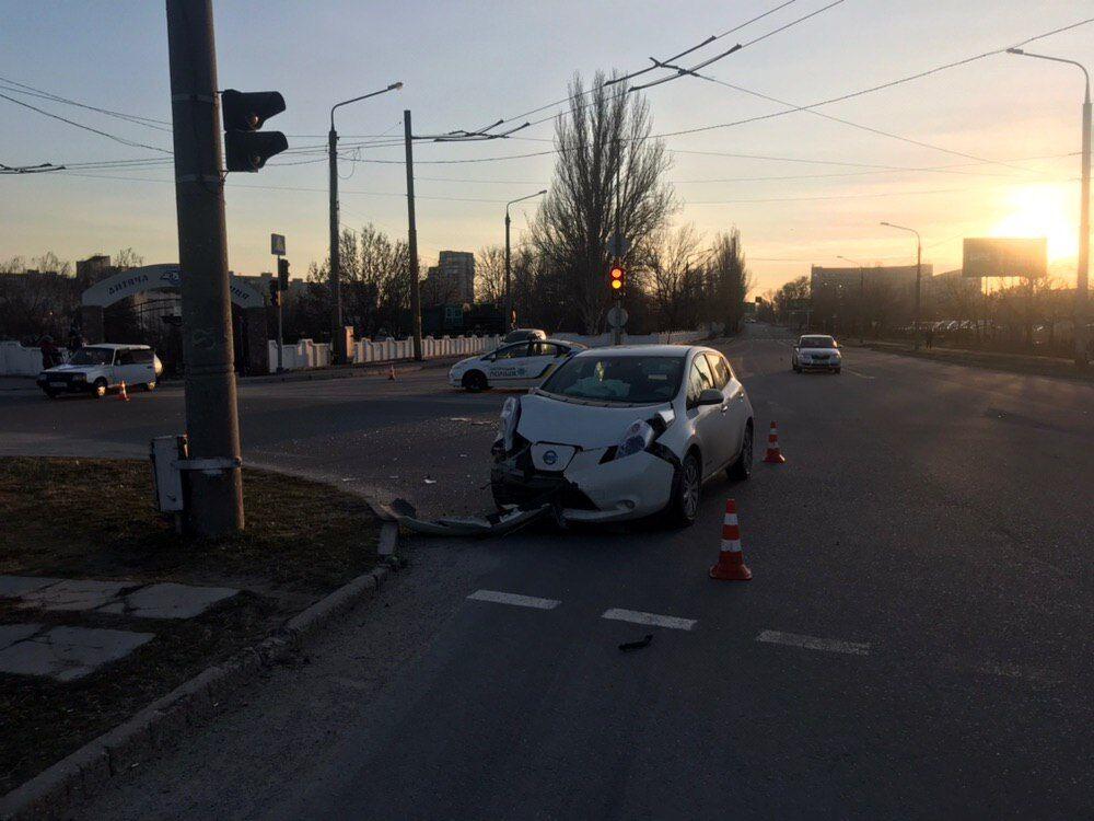 В Запорожье произошло ДТП с участием электрокара
