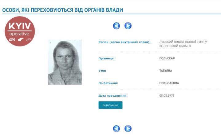 Підозрювана Тетяна Польська