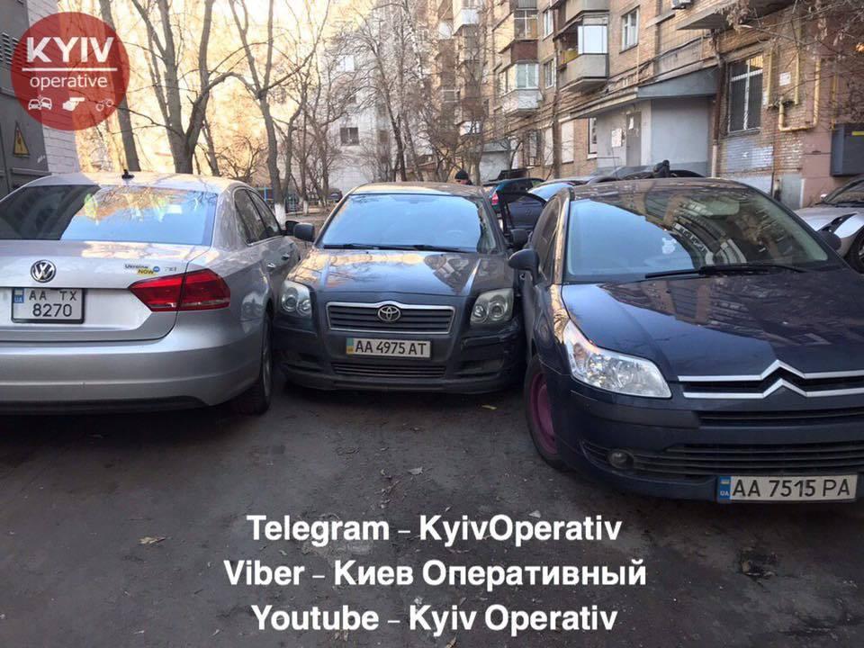 Потрійна ДТП у Києві