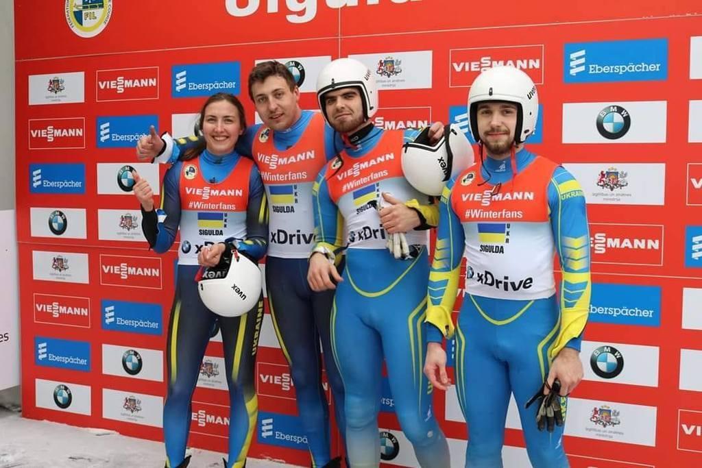 Члени збірної України з санного спорту