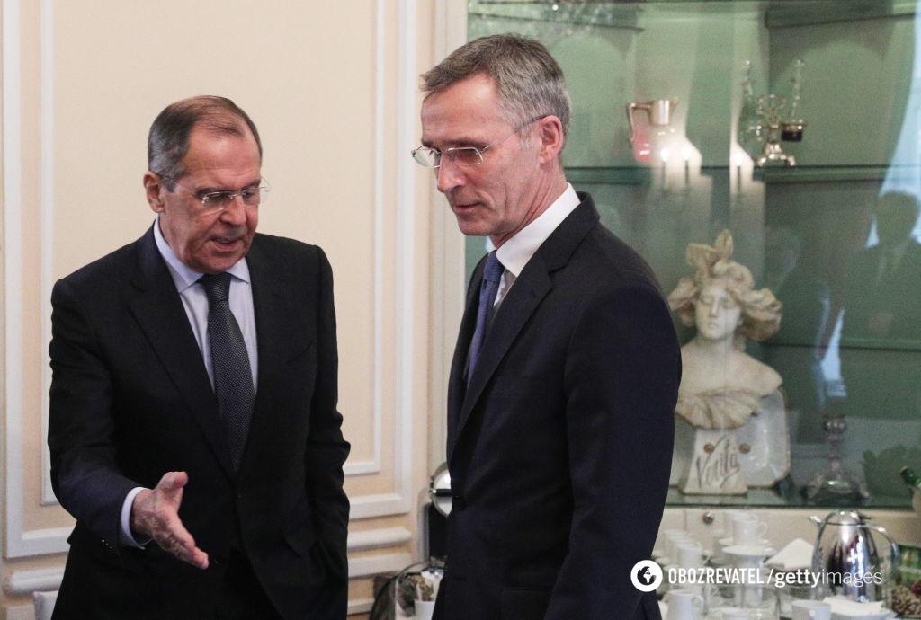 Йенс Столтенберг и Сергей Лавров