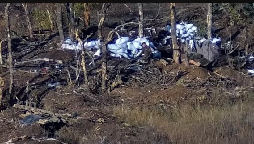 Пошук офіцером РФ підлеглих на Донбасі потрапив на відео