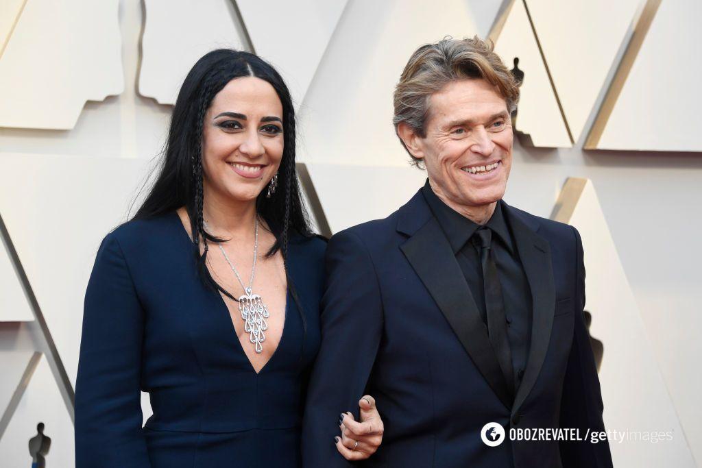 Віллем Дефо з дружиною