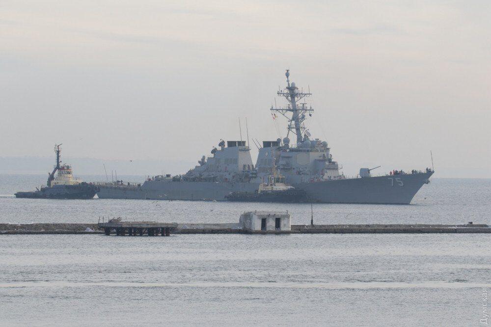 Эсминец USS Donald Cook в Одессе
