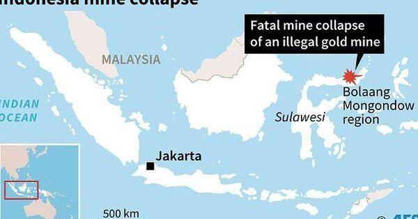В Индонезии обвалилась золотая шахта: 60 людей похоронило заживо. Первые фото и видео