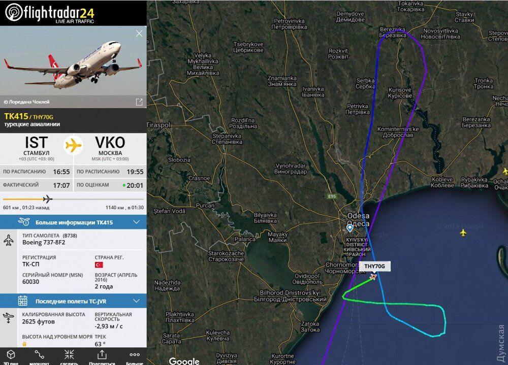Полет рейсового самолета Боинг-737