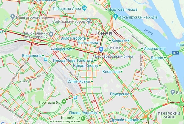 Затори в Києві