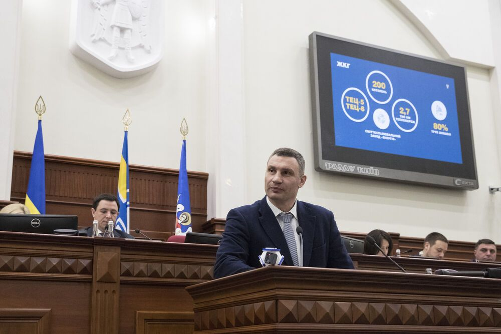 Кличко прозвітував перед Київрадою про успіхи влади