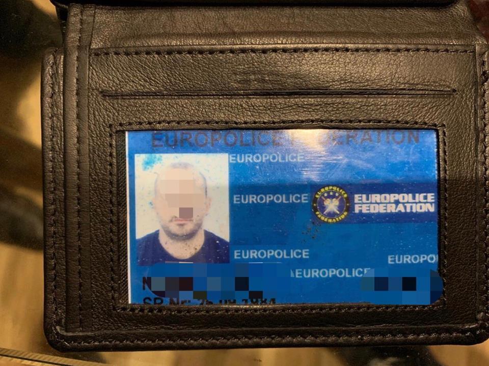 Таке посвідчення співробітника Європолу поліція знайшла у Власюка під час затримання