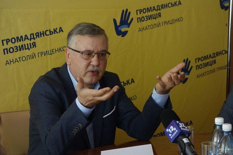Война с РФ: Гриценко рассказал, как помог в обороне Украины