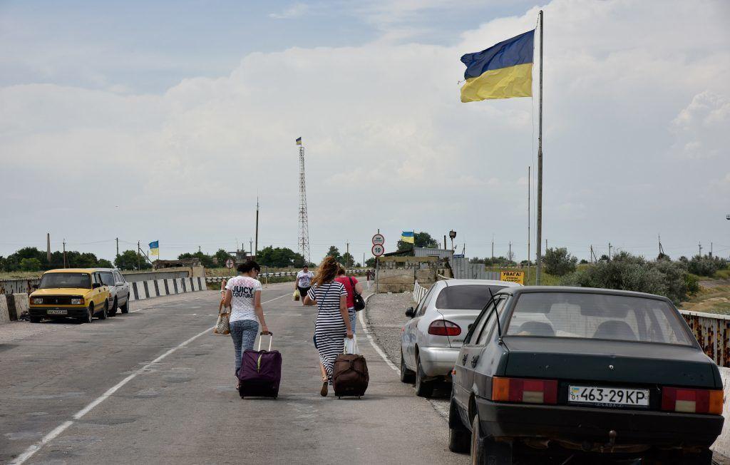Граница между Украиной и Крымом