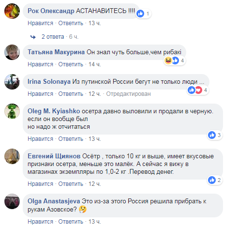 """""""Сбежавший"""" в Украину российский осетр вызвал ажиотаж"""