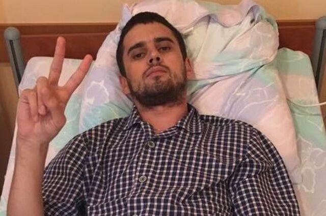 Евгений Дейдей в больнице после ранения