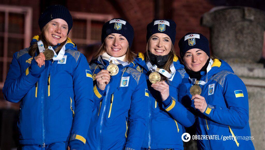 Жіноча збірна України з бронзовими медалями естафети