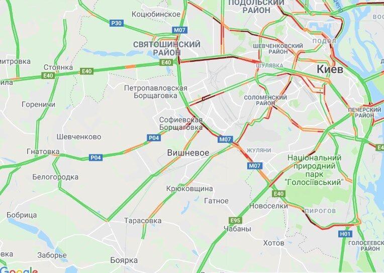 Затори Київ