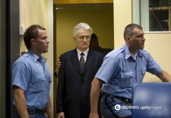 Радован Караджич на суді у 2016 році