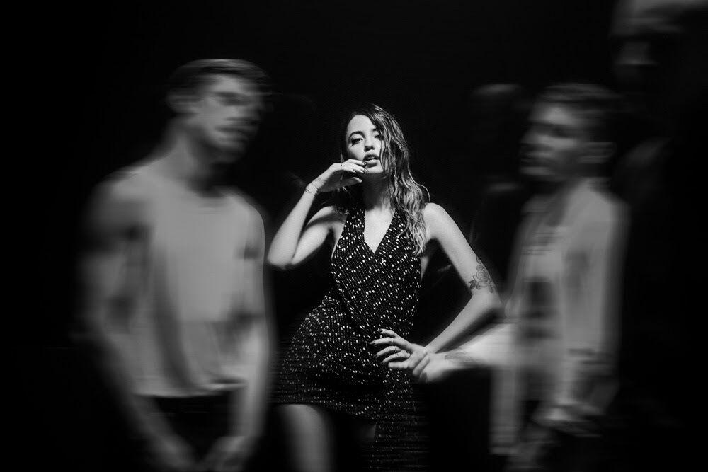 Надя Дорофеева и Позитив на съемках клипа