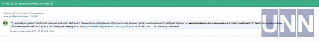 Янукович и Азаров попали в списки избирателей