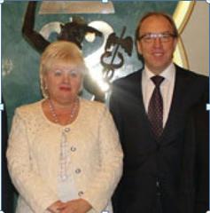 На фото – Геннадий Чижиков и Ольга Пшонка