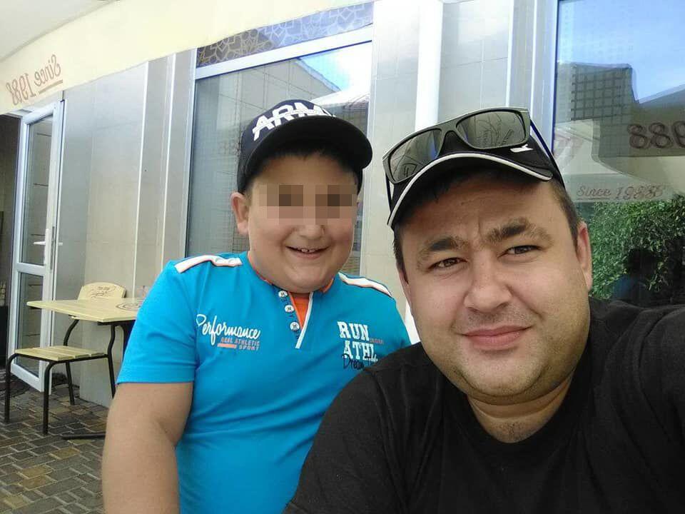 Денис с отцом