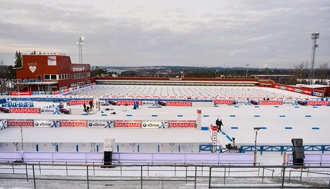 Стрільбищі біатлонного стадіону в Естерсунді