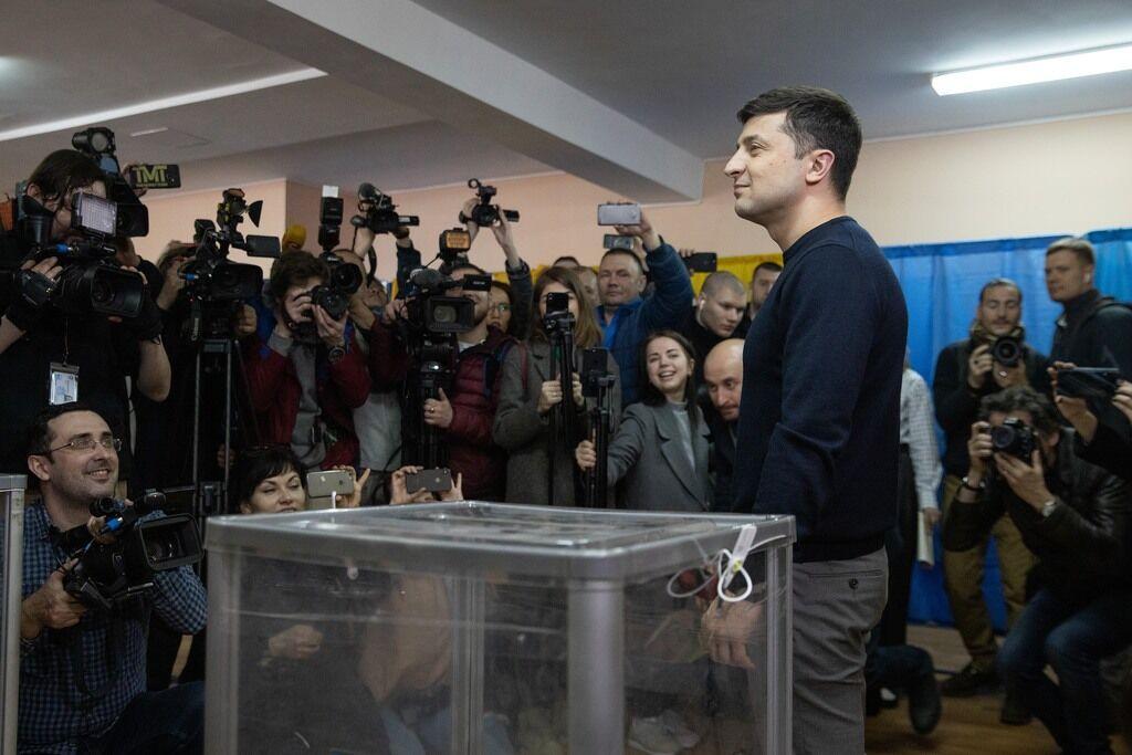 Володимир Зеленський проголосував на виборах
