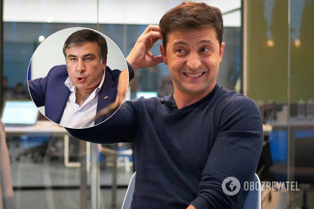 Зеленский и Саакашвили рассыпались друг другу в комплиментах: в чем суть