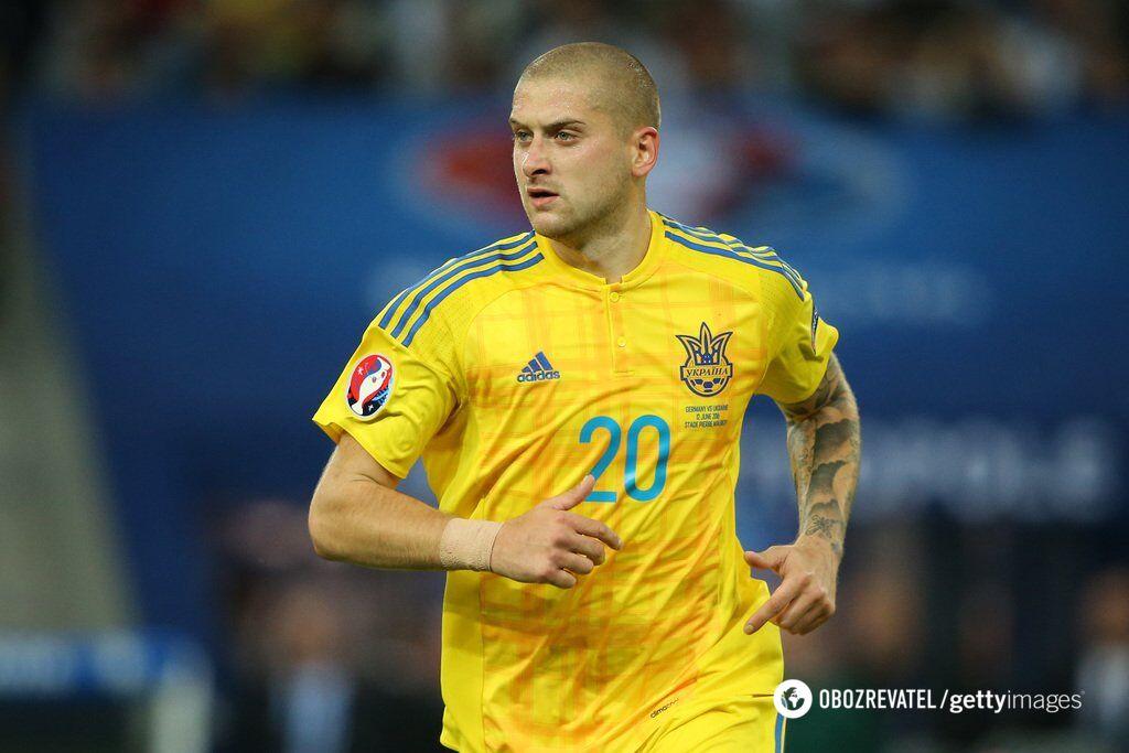 Ярослав Ракицький у футболці збірної України