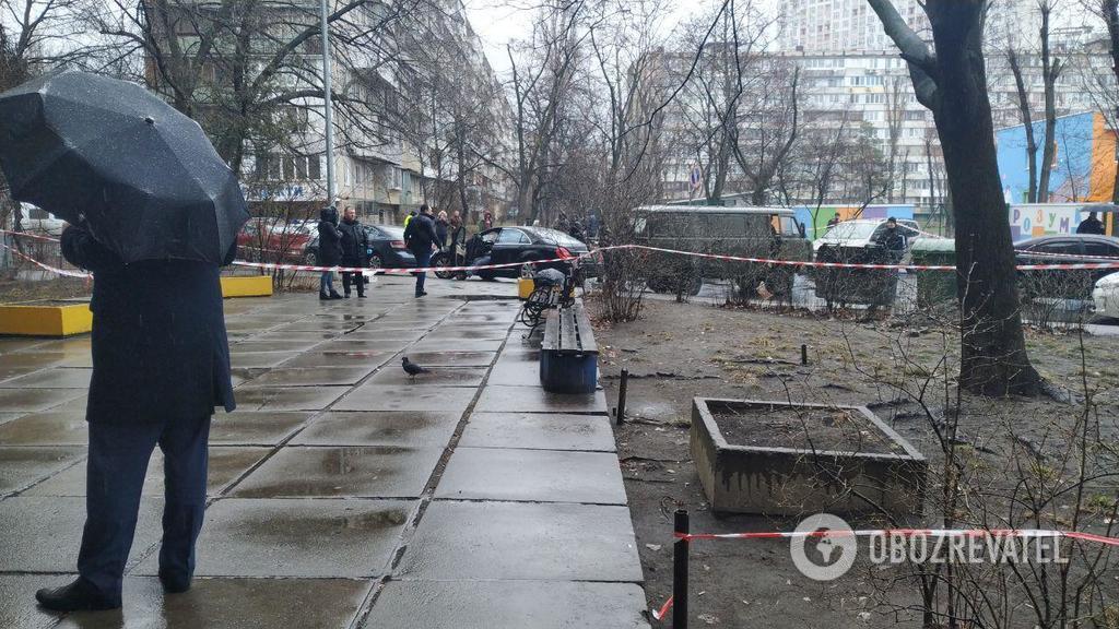 Место преступления в Киеве