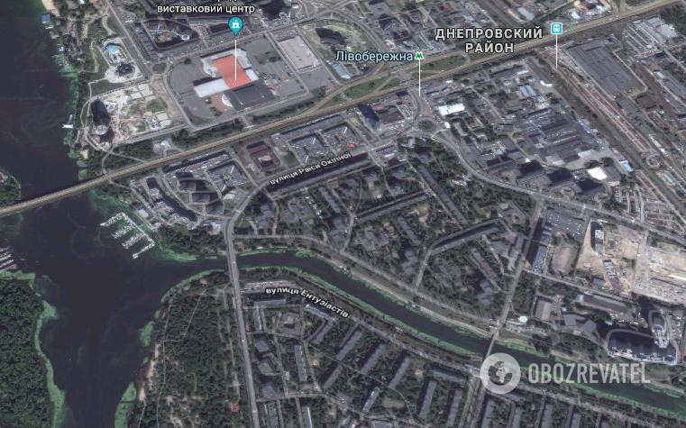 Преступление произошло в Днепровском районе